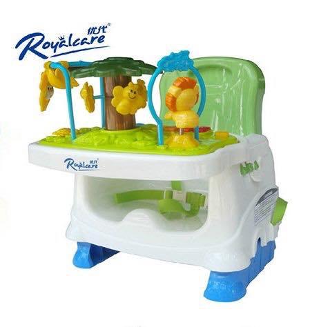 เก้าอี้ทานข้าวพร้อมของเล่นเสริมพัฒนาการ Royalcare Booster Seat Rainforest