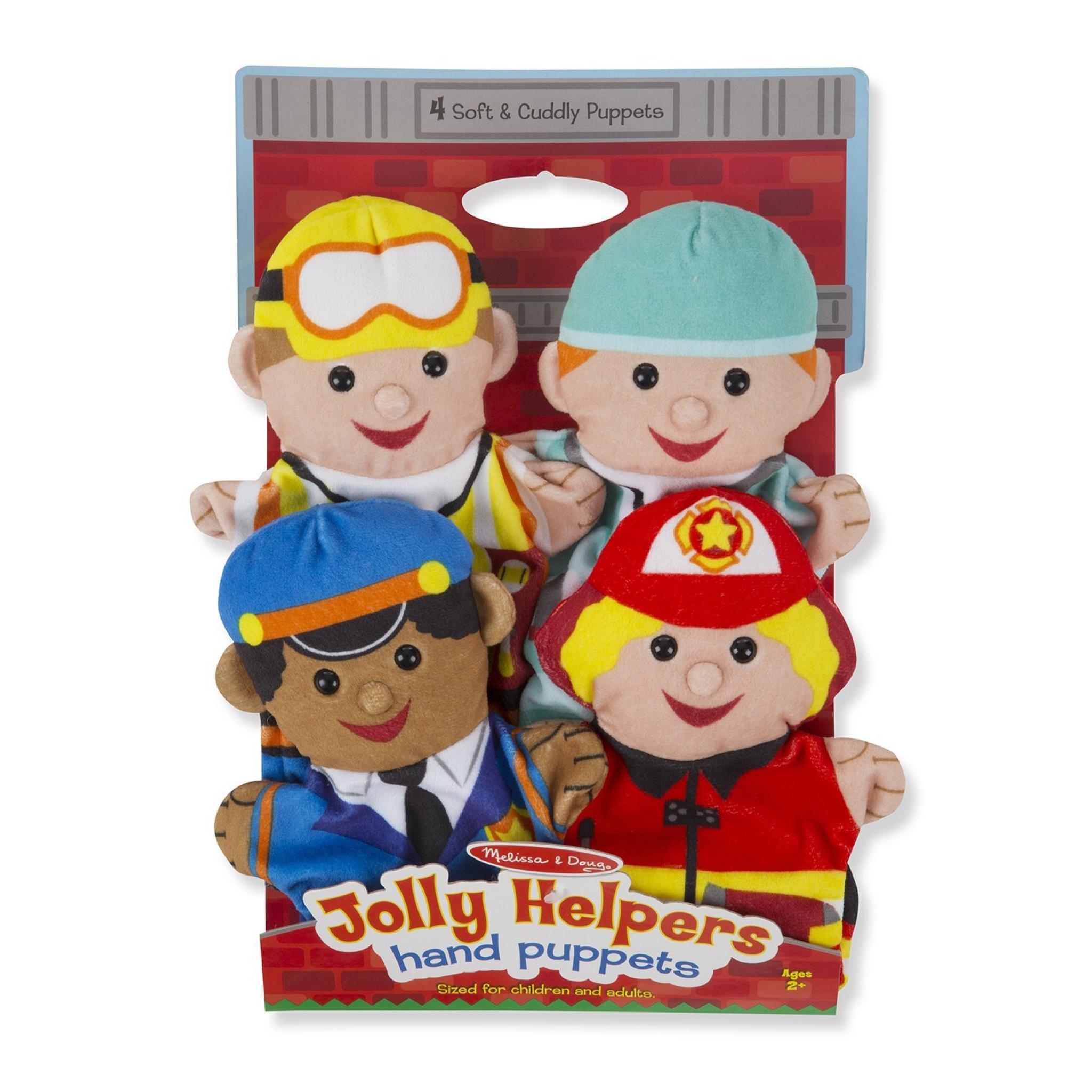 ชุดตุ๊กตาหุ่นมือ Melissa & Doug Hand Puppets (Jolly Helpers)