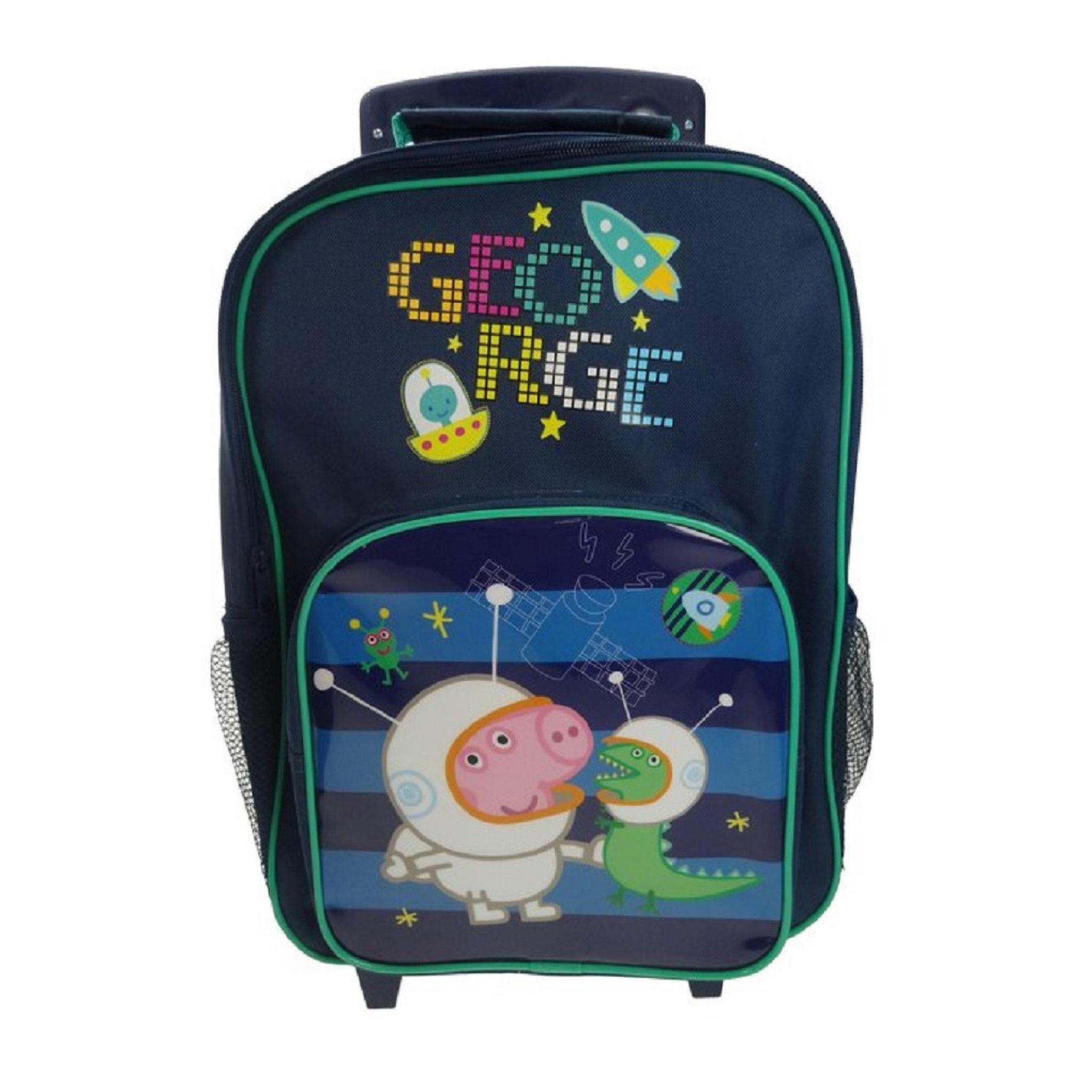 กระเป๋าล้อลากสำหรับเด็ก George Pig in a Space Premium Wheeled Bag