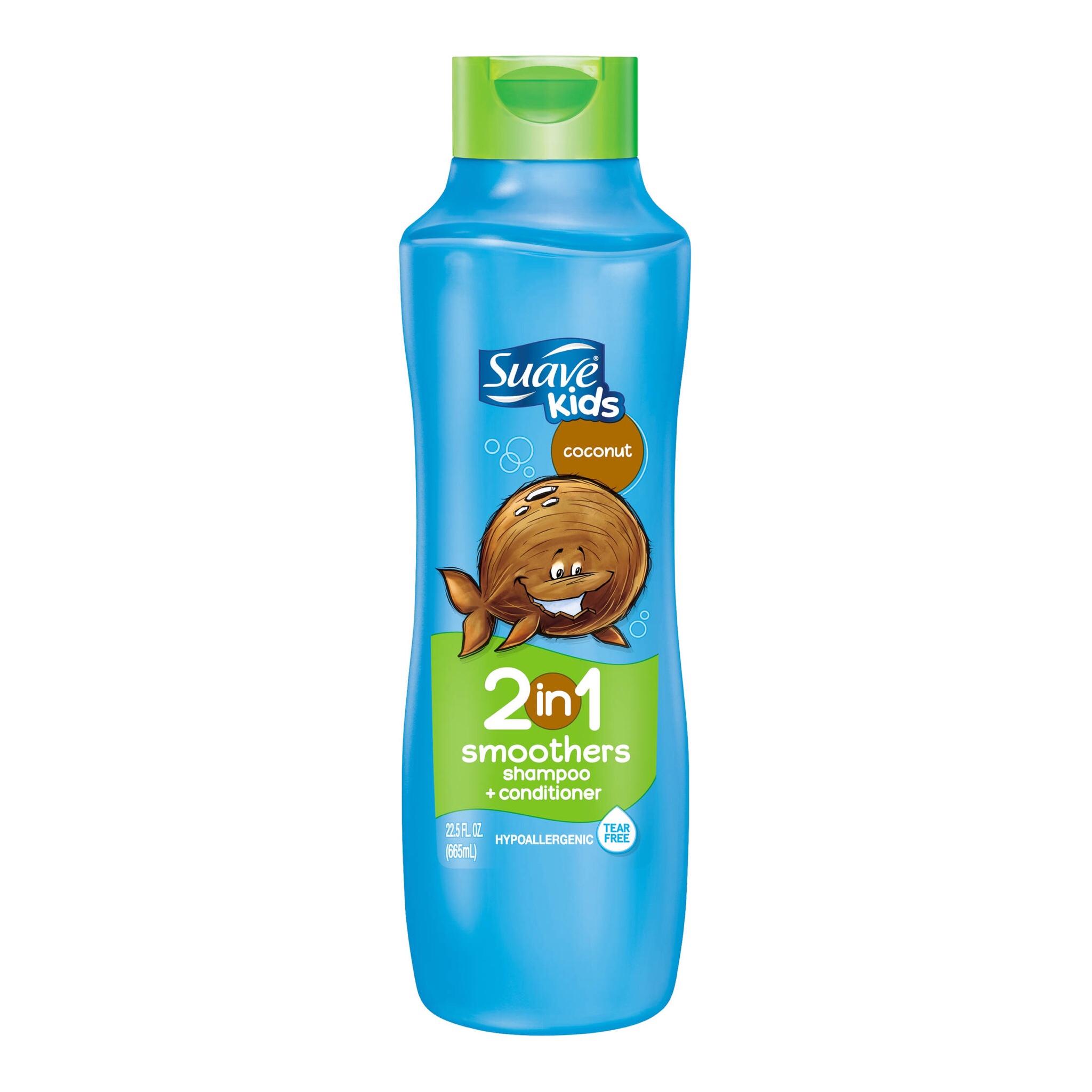 แชมพูผสมครีมนวดผมสำหรับเด็ก Suave Kids 2-in-1 Smoothers Shampoo + Conditioner (Coconut)
