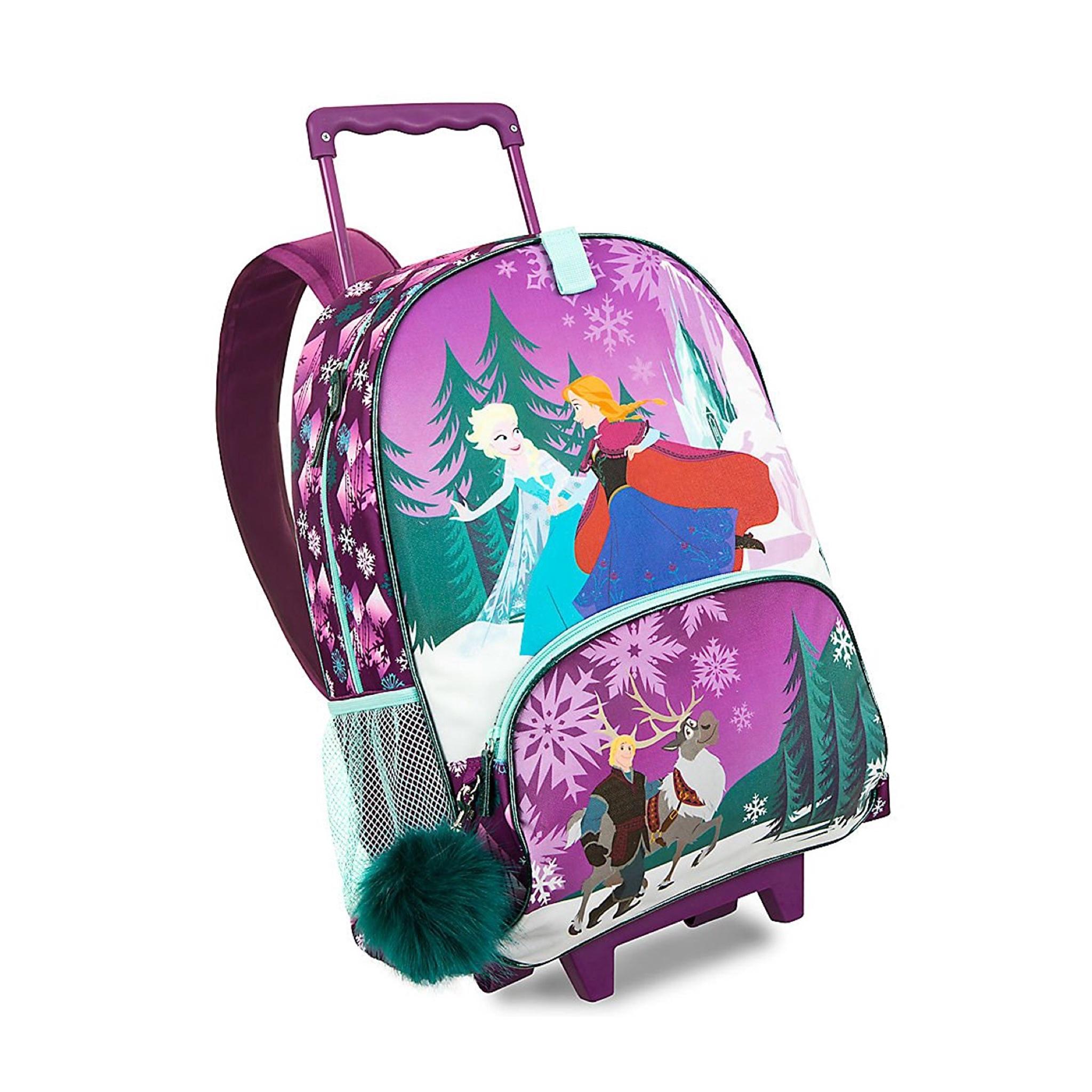 กระเป๋าสะพายพร้อมมือจับและล้อลาก Disney Rolling Backpack (Frozen)
