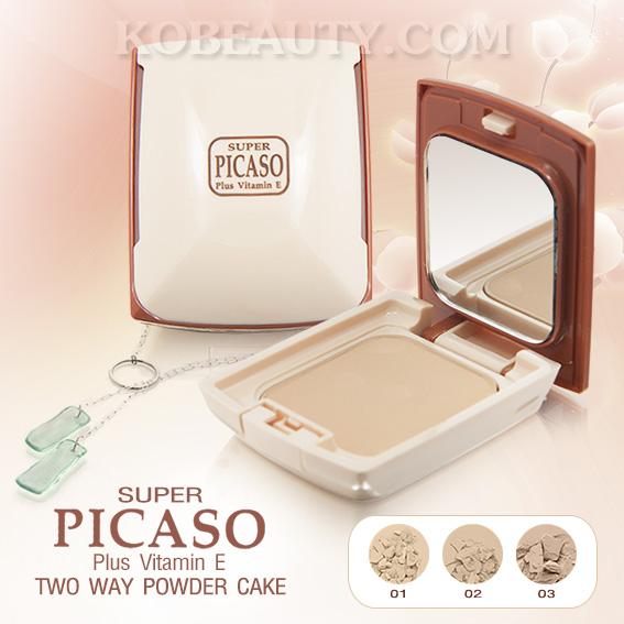 SUPER PICASO TWO WAY POWDER CAKE PLUS VITAMIN E / ซูเปอร์ พีคาโซ่ ทูเวย์ พาวเดอร์ เค้ก พลัส วิตามิน อี