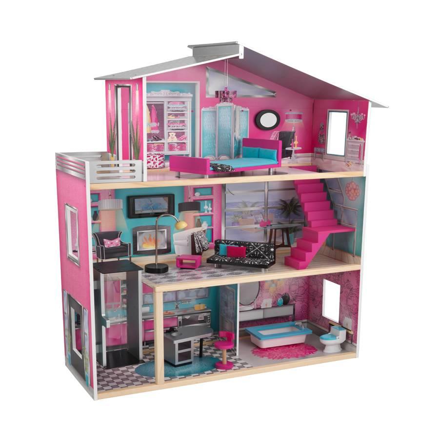 บ้านตุ๊กตาทรงโมเดิร์นหลังยักษ์ KidKraft Modern Luxury Dollhouse