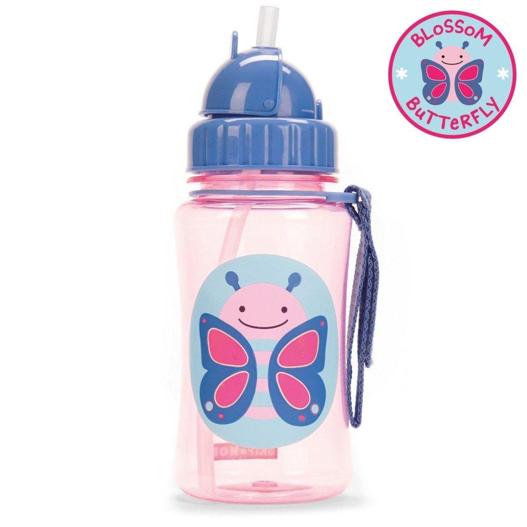 กระติกน้ำชนิดหลอดดูดพร้อมฝาปิด Skip Hop รุ่น Zoo Straw Bottle (Butterfly)