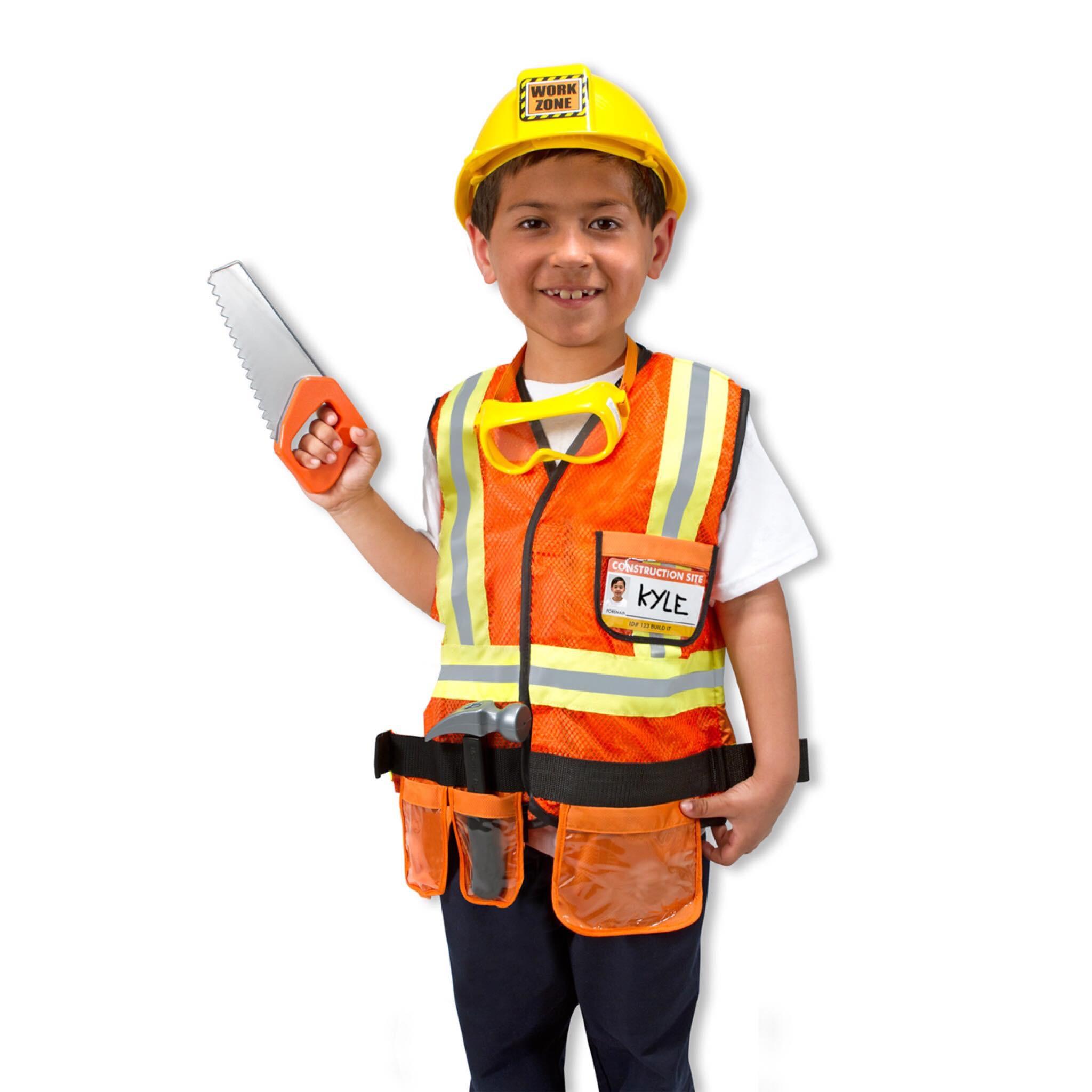 ชุดแฟนซีคอสตูมพร้อมอุปกรณ์สุดน่ารัก Melissa & Doug รุ่น Role Play Costume Set (Construction Worker)