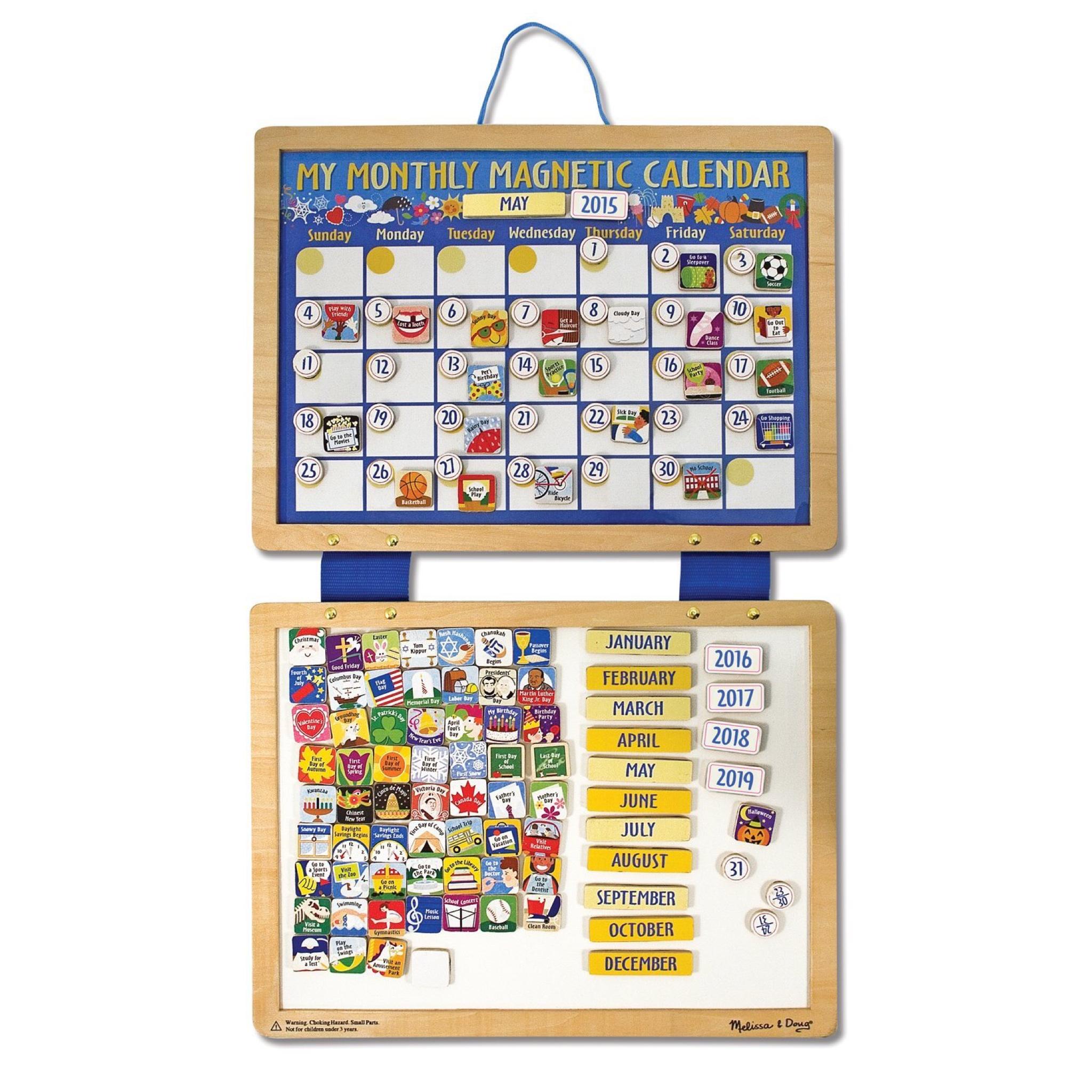 แผ่นกระดานปฏิทินแม่เหล็ก Melissa & Doug Monthly Magnetic Calendar