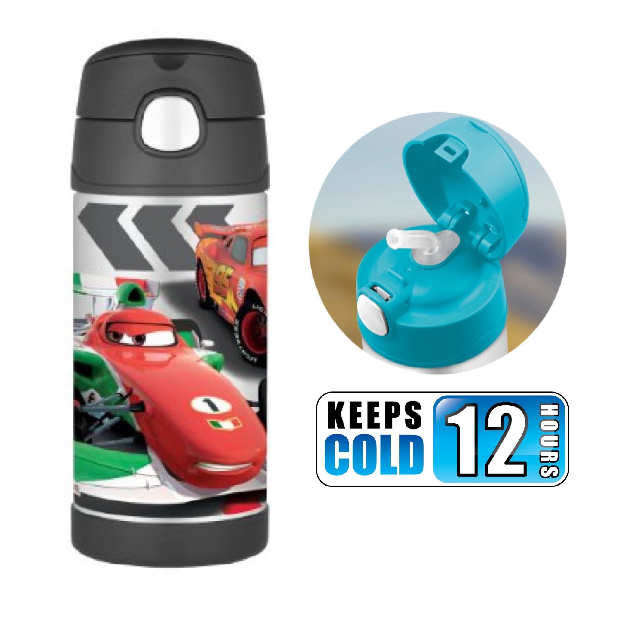 กระติกน้ำสเตนเลสรักษาอุณหภูมิ Thermos FUNtainer Vacuum Insulated Stainless Steel Bottle 12OZ (No Carry Handle) (Cars)