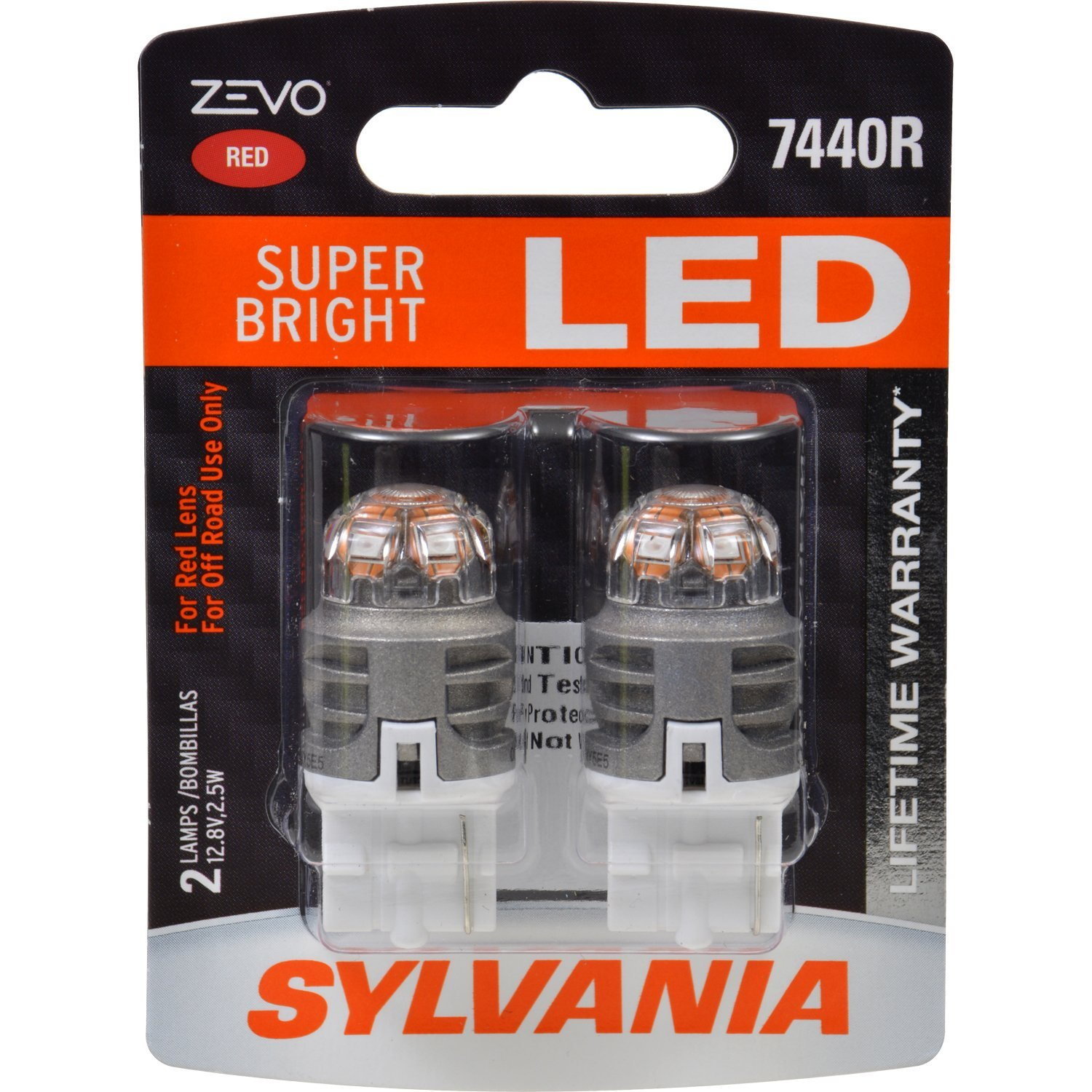 T20 W21W Sylvania ZEVO Super Bright LED RED ส่งฟรี EMS