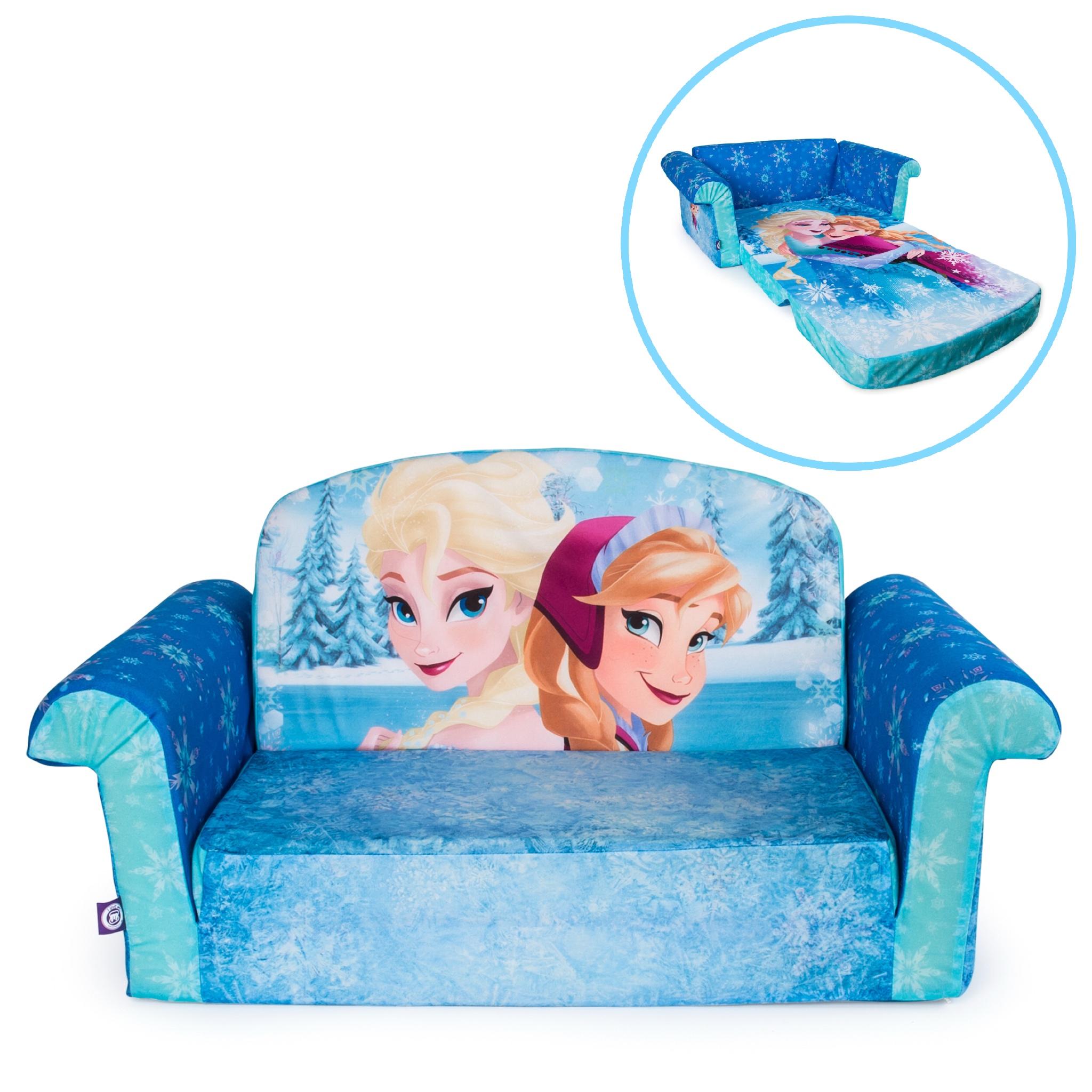 โซฟาเอนกประสงค์สำหรับเด็ก Marshmallow Furniture Children's 2-in-1 Flip Open Foam Sofa (Disney Frozen)