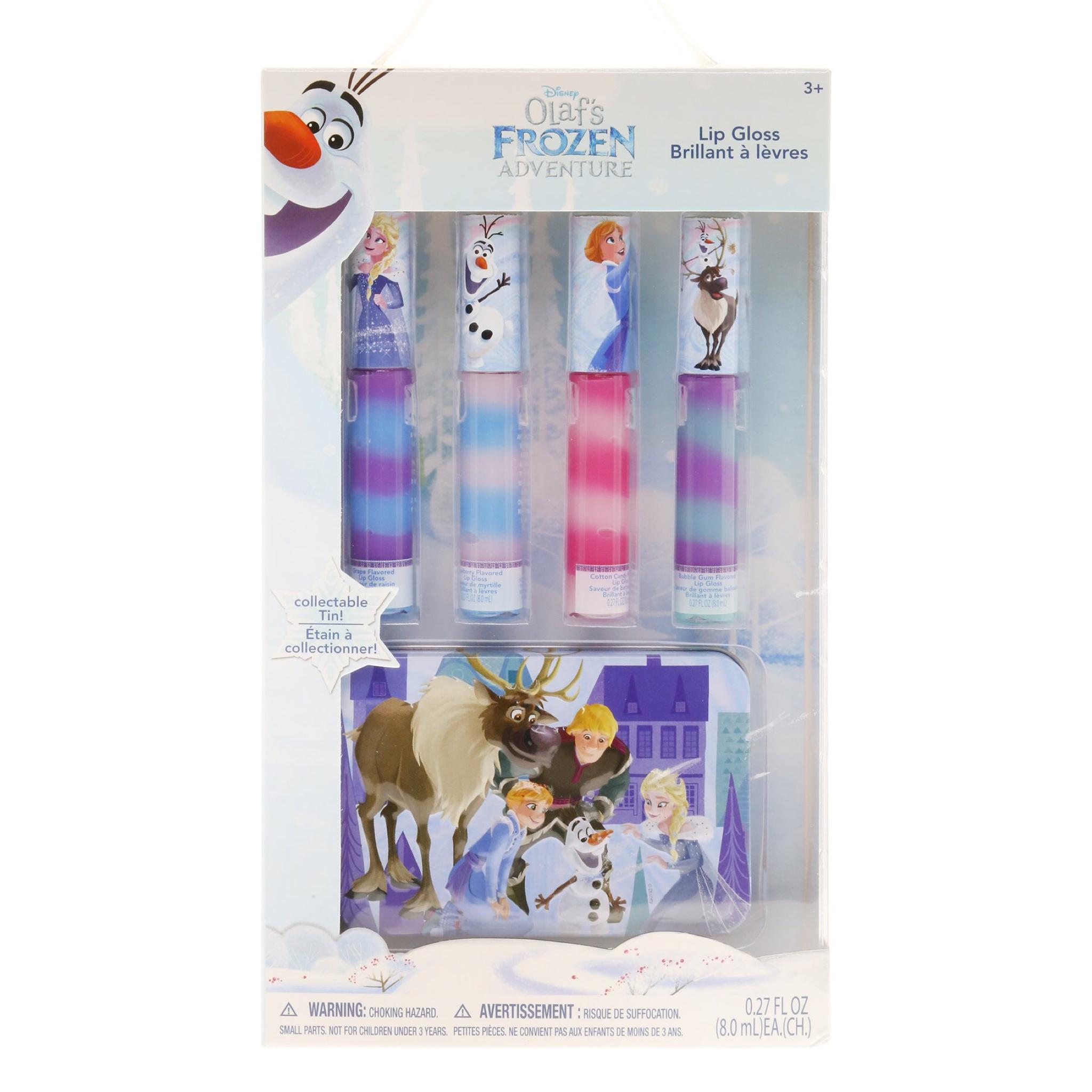 ชุดลิปกลอสปลอดสารพิษพร้อมกล่องบรรจุ Townleygirl 4-Pack Swirly Lip Gloss with Bonus Tin (Olaf's Frozen Adventure)