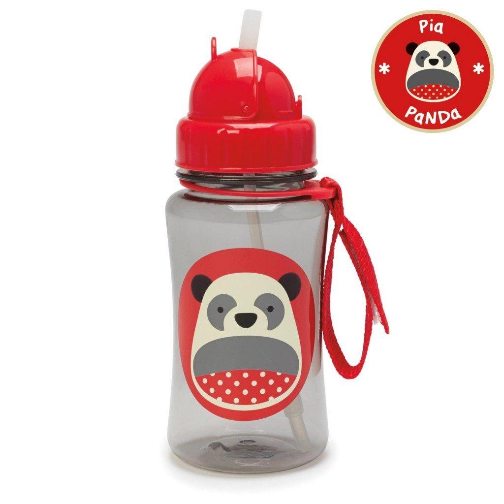 กระติกน้ำชนิดหลอดดูดพร้อมฝาปิด Skip Hop รุ่น Zoo Straw Bottle (Panda)