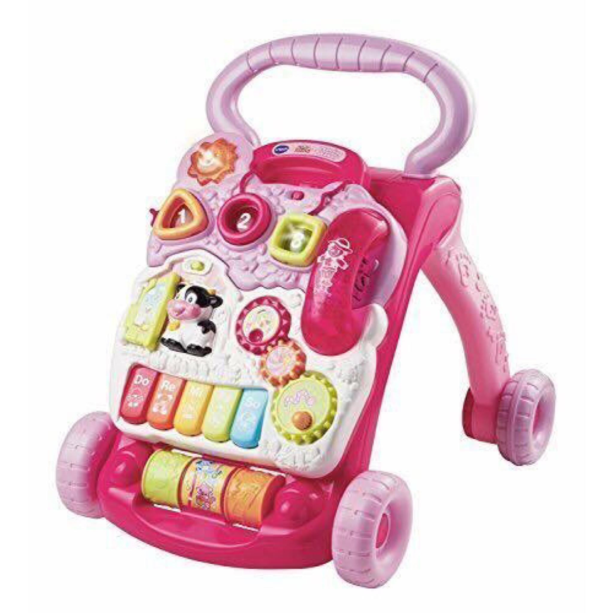 รถผลักเดินปรับหนืดได้ VTech Sit-To-Stand Learning Walker - Pink