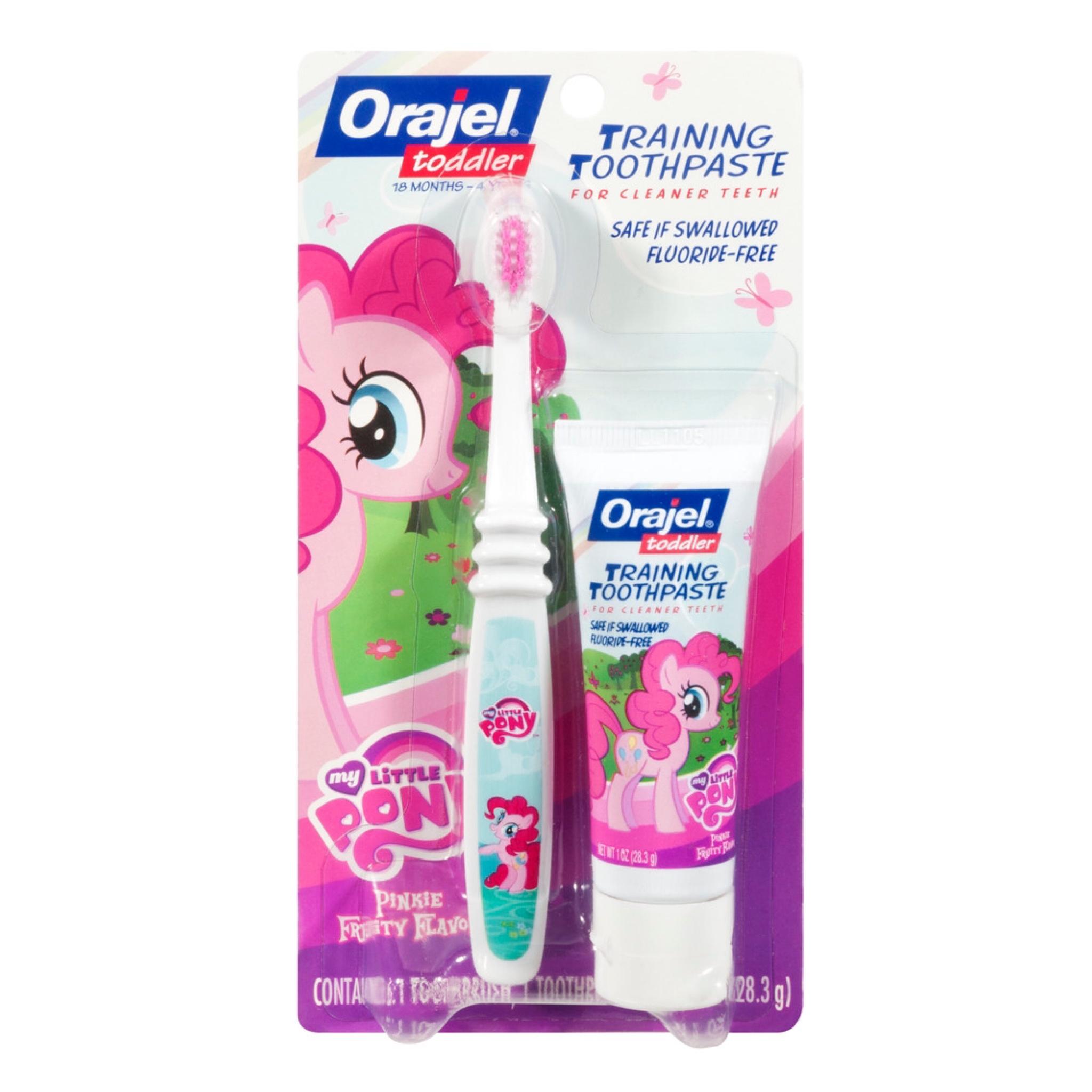 ชุดแปรงสีฟันและยาสีฟันปลอดสารพิษ Baby Orajel Training Toothpaste & Brush (My Little Pony)