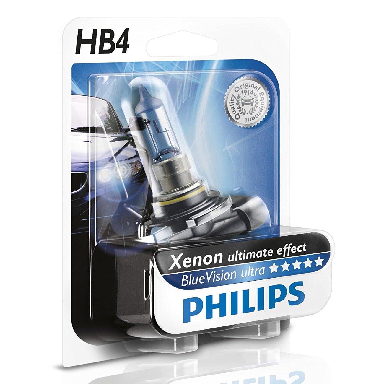 HB4 Philips Blue Vision Ultra Xenon ultimate effect 4000K (Single Pack) ส่งฟรี