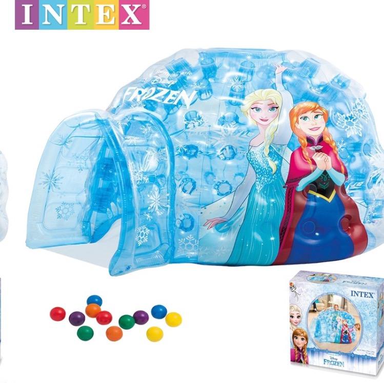 บ้านน้ำแข็งเป่าลมพร้อมลูกบอลสุดน่ารัก Intex Disney Frozen Igloo Playhouse