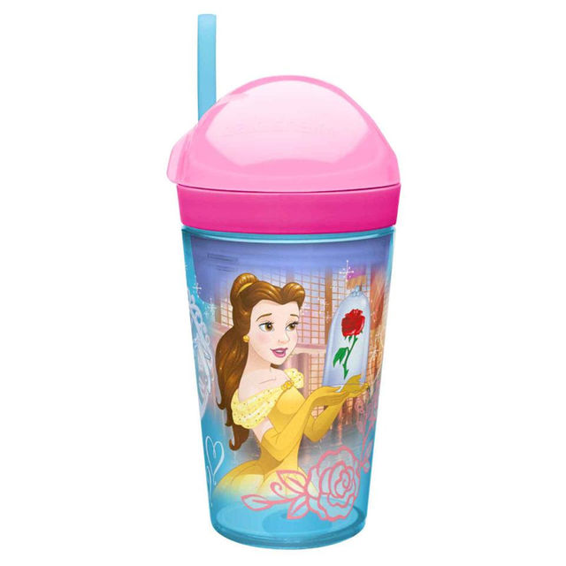 แก้วพร้อมหลอดดื่มสำหรับบรรจุเครื่องดื่มและของว่าง Zak!Snack Tumbler 2-in-1 Snack Cup (Disney Princess)