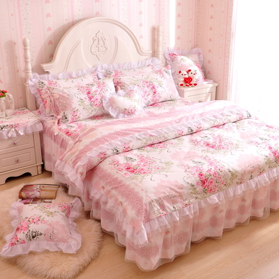 ชุดผ้าปูที่นอนเจ้าหญิง ลูกไม้ SD3005-11 ขนาด 6 ฟุต