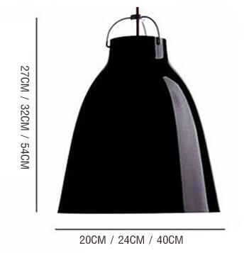 โคมไฟโมเดิร์น สีดำ