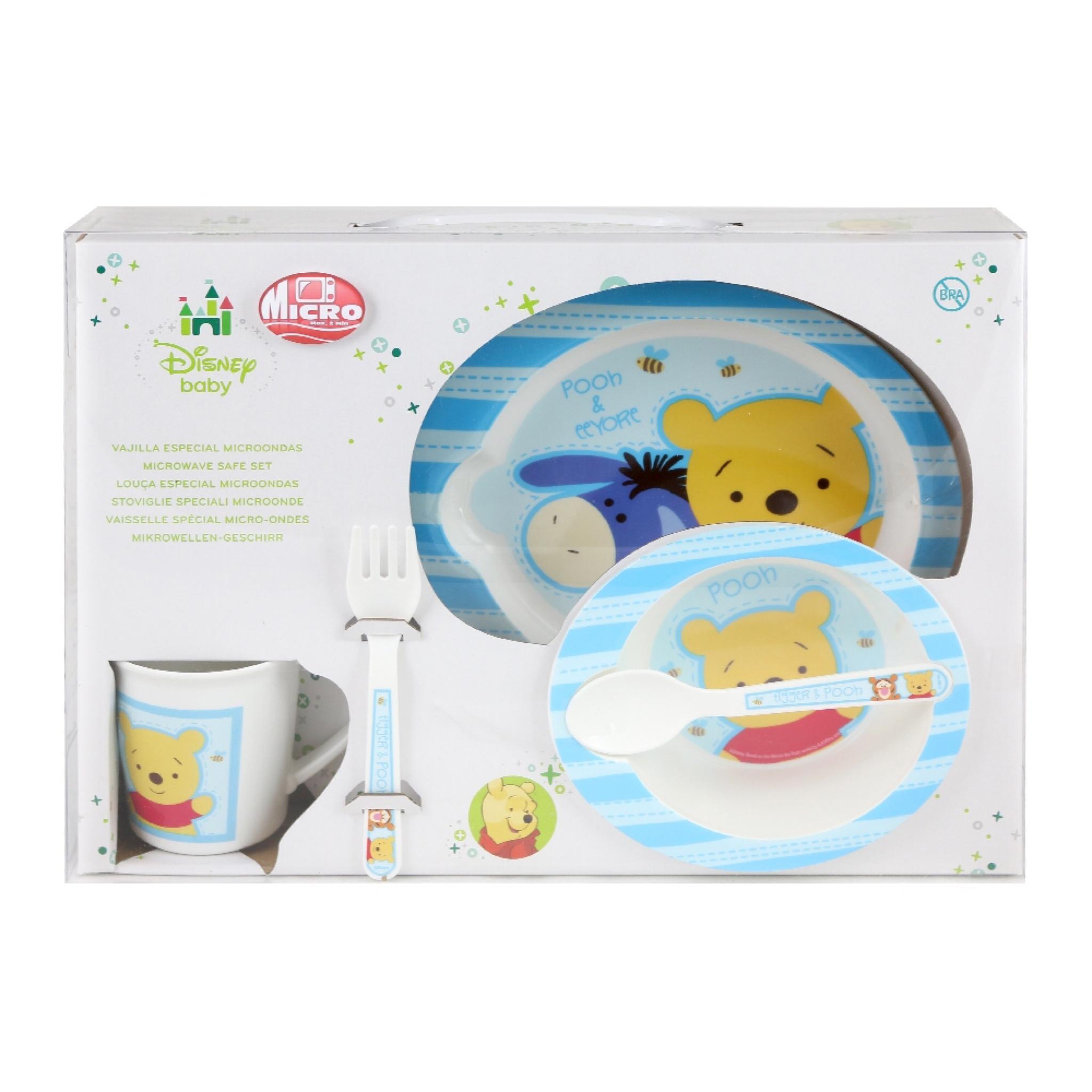 ชุดรับประทานอาหารสำหรับเด็ก Disney Baby Microwave Safe Box Set (Winnie the Pooh)