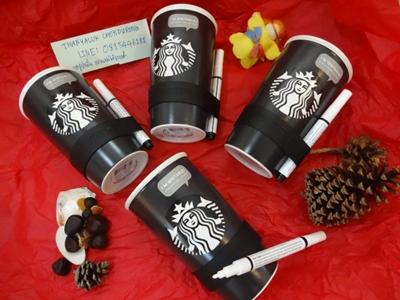 #สตาร์บัคมัคมีปากกาลบได้เขียนแก้วได้##StarbucksMug#Mugดำ โลโก้เงือกไวเรนขาวเด่น สงบ เท่ เรียบ คลาสิคมีสไตส์ #Double Wall Traveler with Chalk Pen, 12 fl oz #มีchalkปากกาเขียนmugแบบลบได้ค่ะ เท่ เก่ไก๋ #ให้คุณcreativeรูปเก๋และคำน่ารัก พร้อมแกาแฟถ้วยโปรดของคุ