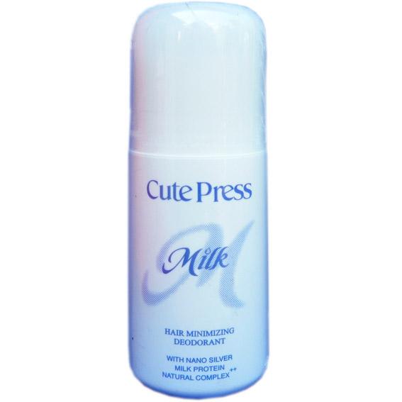 คิวท์เพรส มิลค์ แฮร์ มินิไมซ์ซิ่ง ดีโอโดเร็นท์ Cute Press Milk Hair Minimizing Deodorant
