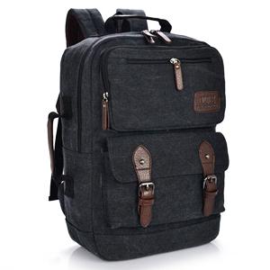 VT07-Black กระเป๋าเป้แคนวาส กระเป๋าผู้ชาย สีดำ