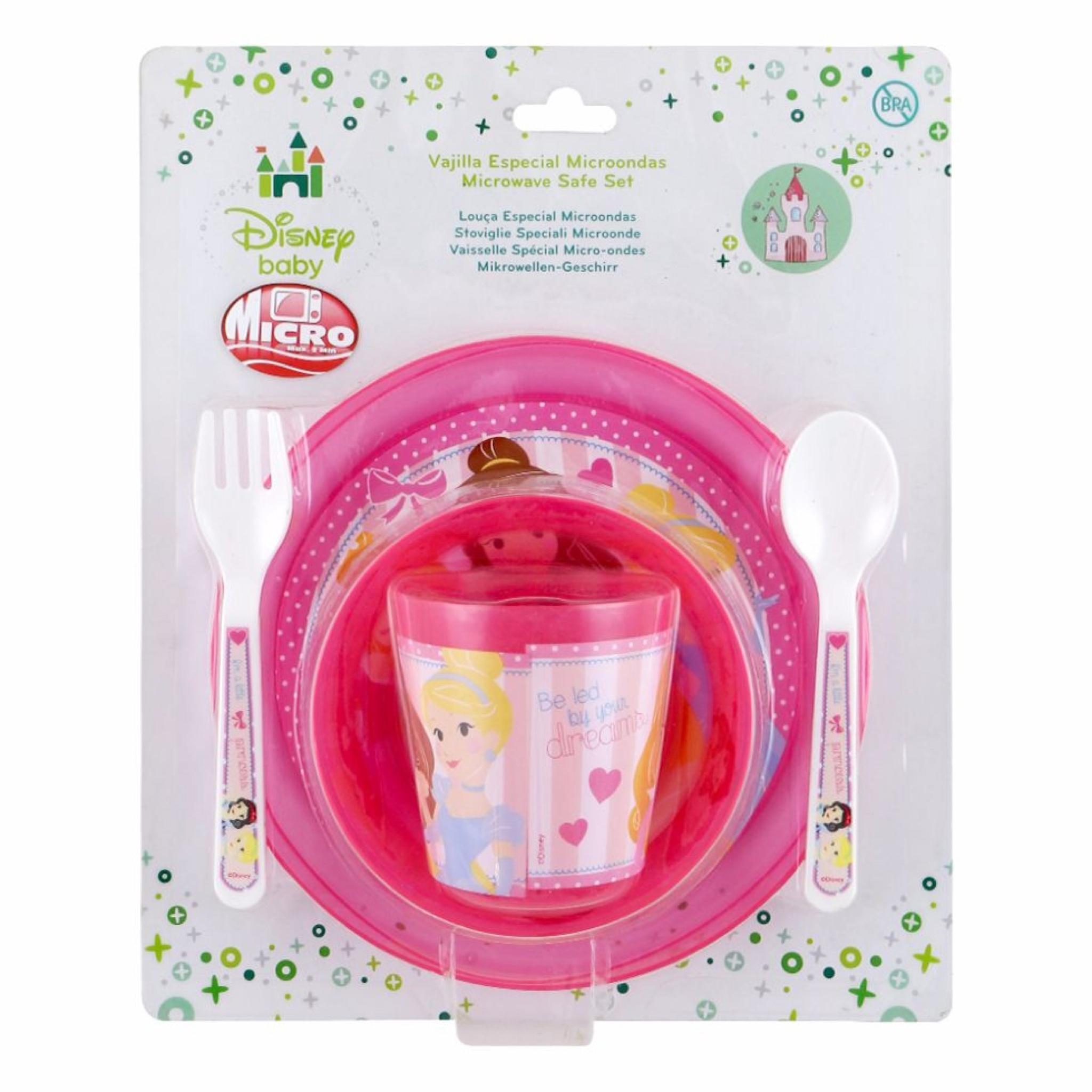 ชุดรับประทานอาหารสำหรับเด็ก Disney Baby Microwave Safe Baby Set (Disney Princess)