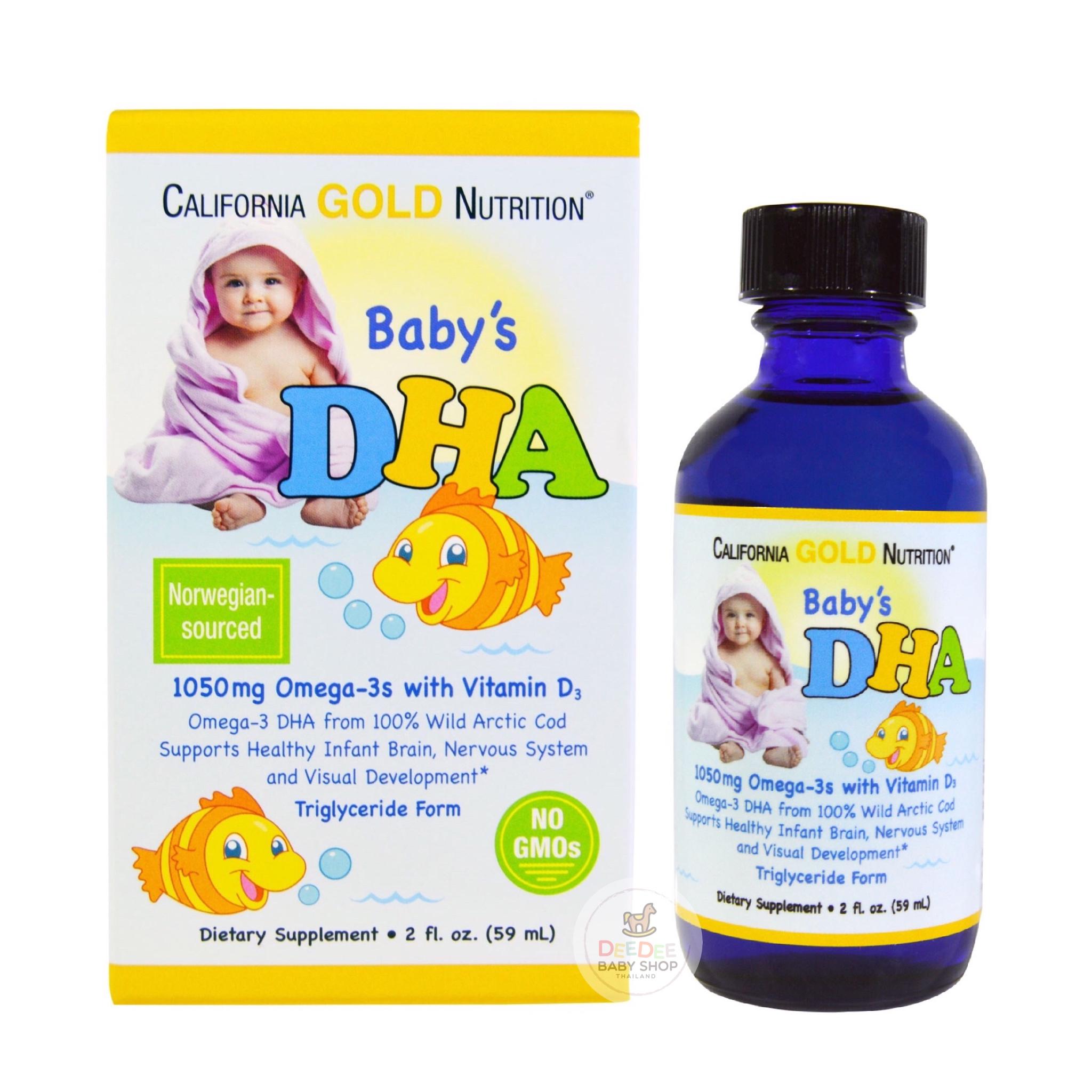 วิตามินเสริมแร่ธาตุ DHA สำหรับทารก California GOLD Baby's DHA, 1050 mg Omega-3s with Vitamin D3