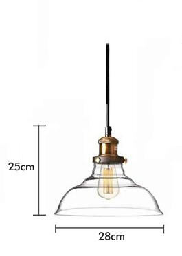 โคมไฟแก้ววินเทจ แบบจาน