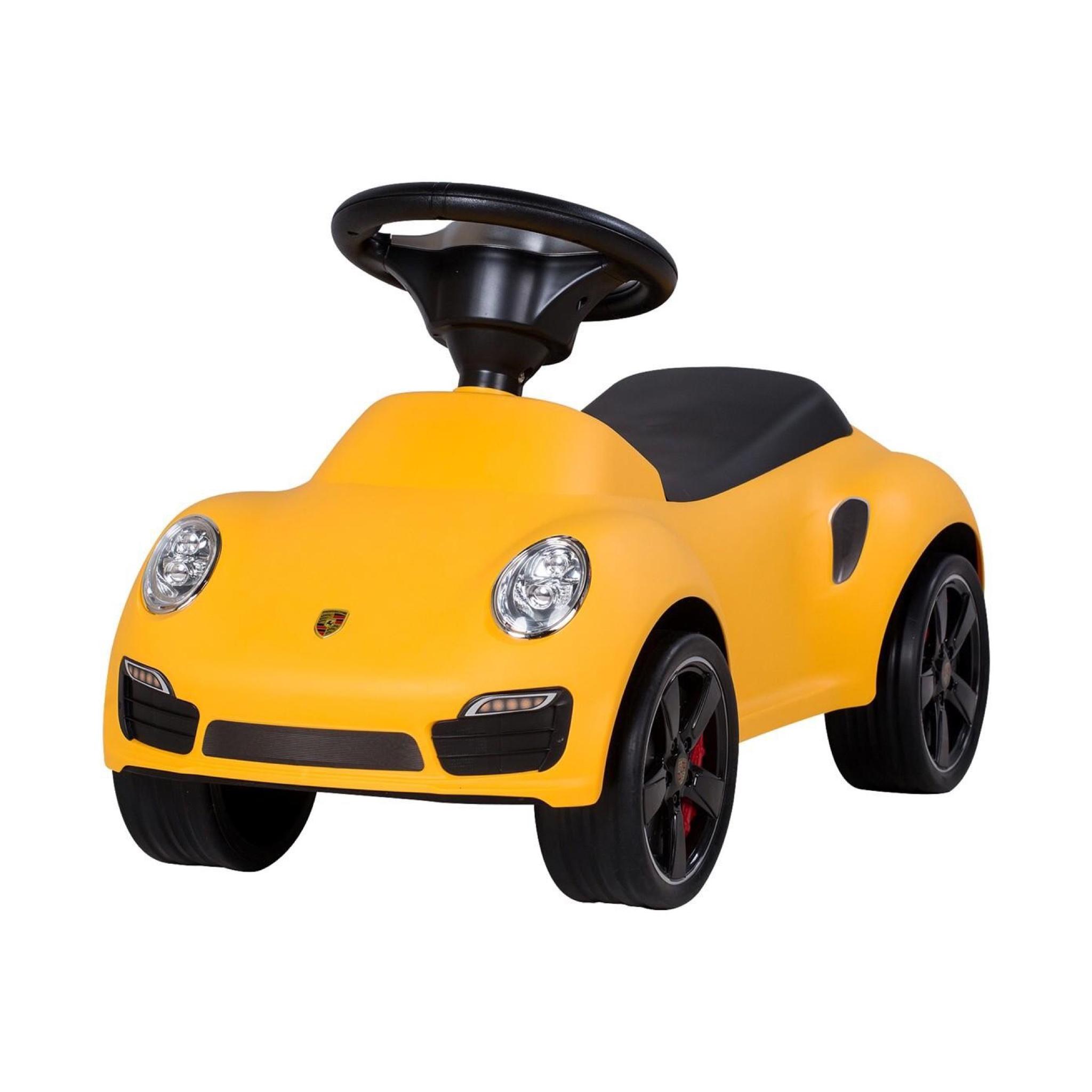รถซุปเปอร์คาร์ขาไถลิขสิทธิ์แท้ของรถยนต์ Porsche รุ่น Porsche 911 Turbo Push Car - Yellow