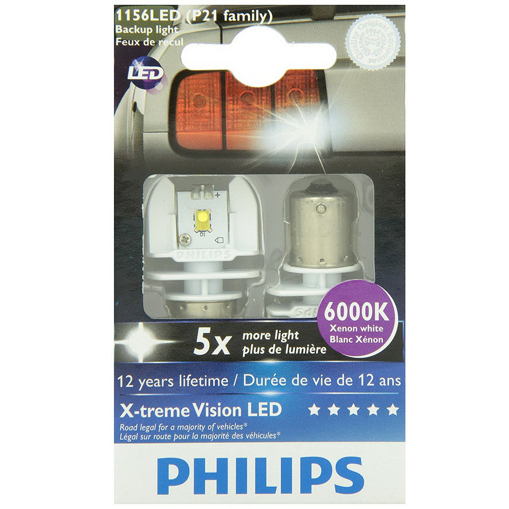P21W Philips X-treme Vision LED 6000K ส่งฟรี
