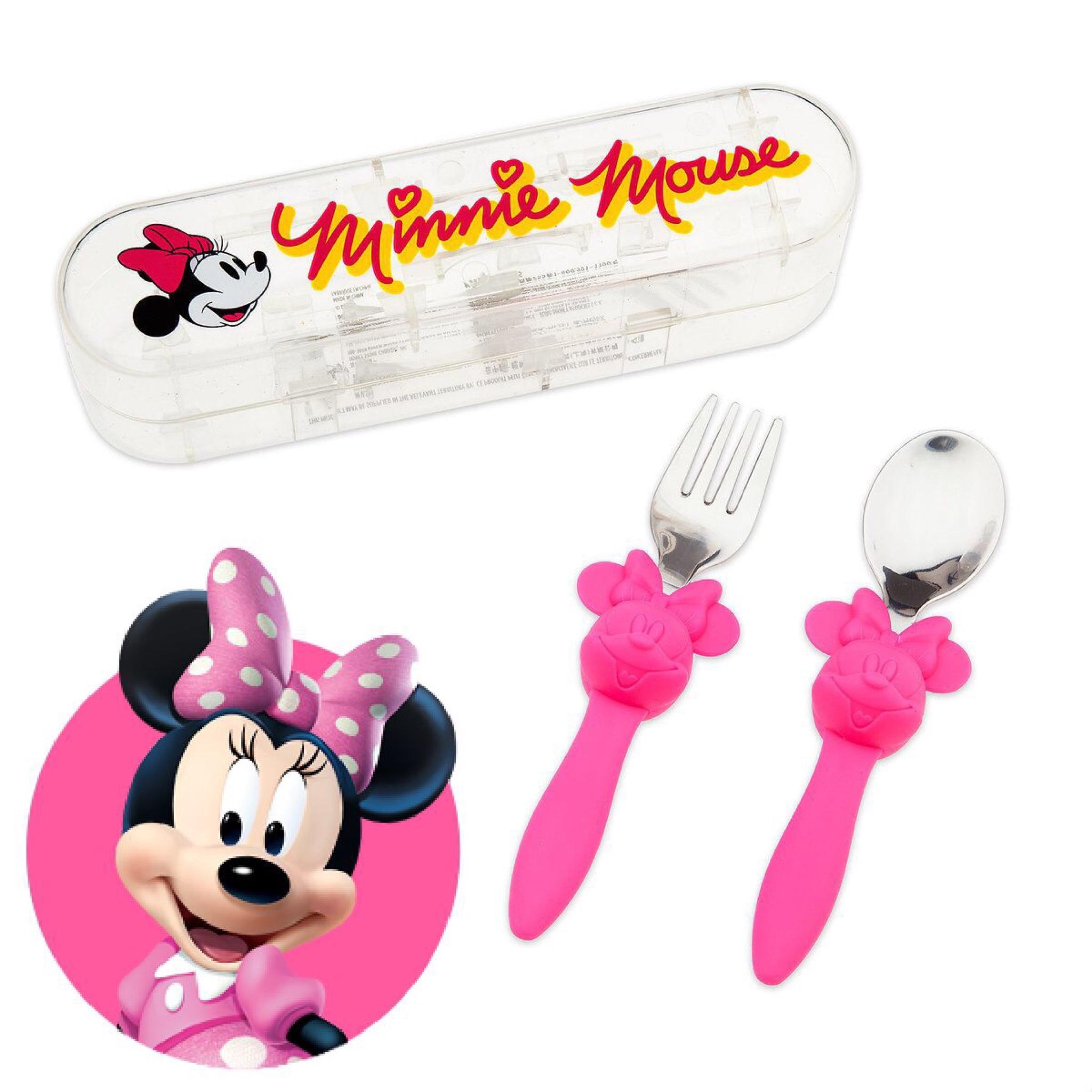 ชุดช้อนและส้อมพร้อมกล่องบรรจุสำหรับเด็ก Disney Eats Flatware Set for Kids (Minnie Mouse)