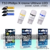T10 Philips X-Treme Ultinon LED (4000K-8000K) ส่งฟรี