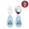 ชุดช้อนและส้อมสำหรับเด็กสุดน่ารัก Skip Hop รุ่น Zootensils Little Kids Fork & Spoon (Owl)