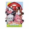 ชุดตุ๊กตาหุ่นมือ Melissa & Doug Hand Puppets (Farm Friends)