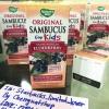 วิตามินสกัดจากผลElderberry Nature's way SambucusForKidสำหรับเด็กอายุ1-12ปี สีชมพูช่วยป้องกันและรักษาแก้หวัด คัดจมูกให้รสหวานธรรมชาติ Naturel Syrupแบบน้ำเชื่อมเข้มข้นรสอร่อย นำเข้าจากอเมริกา ของแท้ปลอดภัย100%