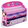 ชั้นวางหนังสือพร้อมกล่องเก็บของเล่นสำหรับลูกน้อย Delta Children Deluxe Book & Toy Organizer (Disney Minnie Mouse)