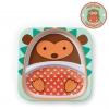 จานอาหารแบ่ง 2 ช่องสำหรับเด็ก Skip Hop รุ่น Zoo Plate (Hedgehog)