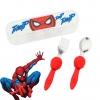 ชุดช้อนและส้อมพร้อมกล่องบรรจุสำหรับเด็ก Disney Eats Flatware Set for Kids (Spider-Man)