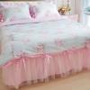 ชุดผ้าปูที่นอนเจ้าหญิง ลูกไม้ SD3009-14 ขนาด 6 ฟุต