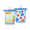 แก้วหัดดื่มสำหรับเด็กเล็ก evenflo Tilty TripleFlo (Blue)