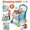 รถเข็นซุปเปอร์มาร์เก็ตพร้อมที่นั่งตุ๊กตา Kids Shopping 3-in-1 Cart (Blue)