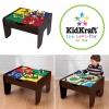 โต๊ะกิจกรรมสำหรับเลโก้พร้อมชุดรถไฟ Kidkraft 2-in-1 Activity Table with LEGO-Compatible Board and Train Set (Espresso)