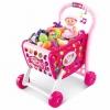 รถเข็นซุปเปอร์มาร์เก็ตพร้อมที่นั่งตุ๊กตา Kids Shopping 3-in-1 Cart (Pink)