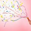 ป๊อปเปอร์-สายรุ้ง เส้นสายรุ้งหลากสี แบบดึง 2 นิ้ว 1 แพค 100 ชิ้น