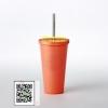 Starbucks USA Limited Cold cup Stainless Steel Matte Orange 16 oz รุ่นหลอดสแตนเลสหายากมีใบเดียวค่ะ แก้วcold cup starbucks ที่เป็นหลอดสแตนเลสหายากมากๆแล้วค่ะ เพราะพี่บัคส์สั่งเก็บหลอดสแตนเลสทั่วทุกสาขาทั่วโลกแล้วค่ะ ใบนี้ rare and limitedรีบสอยค่ะ