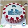 เค้กโฟโต้รูปคิม จองฮุน ขนาด 2 ปอนด์