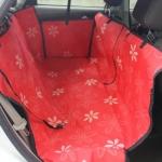 ที่รองเบาะรถยนต์ สำหรับสัตว์เลี้ยง ลายดอกไม้LP04021-1