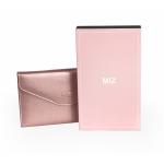 RFID Passport Holder Wallet (Rose gold) กระเป๋าพาสปอร์ตพร้อมกล่องพรีเมี่ยม สีชมพู