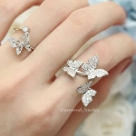 Butterfly Diamond Ring งานเพชร CZ แท้ แท้ รหัส INJ017